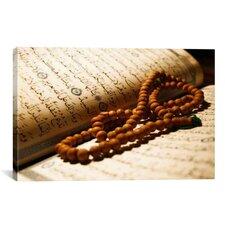 Islamic Koran and Prayer Beads Photographic Print on Canvas