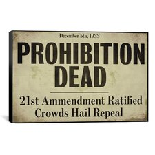 Color Bakery 'Prohibition' Textual Art on Canvas