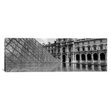 Panoramic Musee Du Louvre, Paris, France Photographic Print on Canvas
