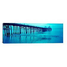 Panoramic Malibu Pier, Malibu, California Photographic Print on Canvas