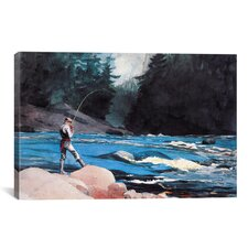'Ouananiche, Lake St John' by Winslow Homer Painting Print on Canvas