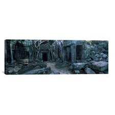 Panoramic Ta Prohm Temple, Angkor, Cambodia Photographic Print on Canvas