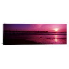 Panoramic San Diego Pier, San Diego, California Photographic Print on Canvas