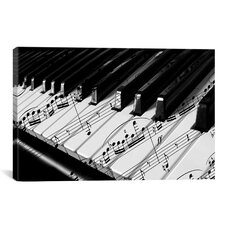 Panoramic Piano Photographic Print on Canvas