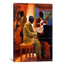'Piano Man' by Keith Mallett Painting Print on Canvas