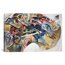 'Painting with White Border' by Wassily Kandinsky Painting Print on Canvas