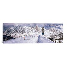 Panoramic 'Snowbird Ski Resort, Utah' Photographic Print on Canvas