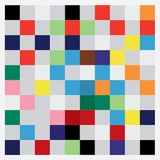 Modern Art cPixilated Tile Art Colorful Square Pattern Modern Graphic Art on Canvas