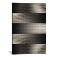 Modern Art Grayscale Graphic Art on Canvas