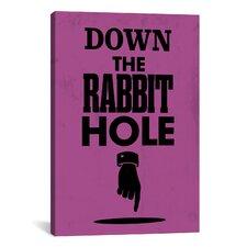 Modern Art Rabbit Hole Graphic Art on Canvas