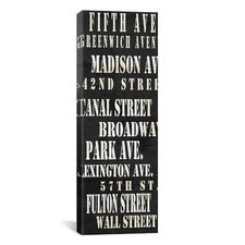 Typography 'NYC Streets from Willow Way Studios, Inc' Textual Art on Canvas