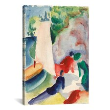 'Picnic on the Beach' by August Macke Painting Print on Canvas