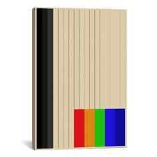 Modern Art Rainbow Silo Graphic Art on Canvas