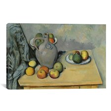 'Pichet Et Fruits Sur Une Table 1893-1894' by Paul Cezanne Painting Print on Canvas