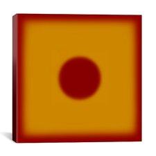 Modern Art Red Hot Sun Graphic Art on Canvas