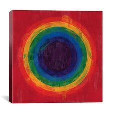 Modern Art cRainbow Tunnel (After Suggs) Modern Painting Print on Canvas