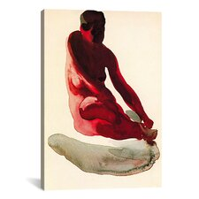 'Nude Series (Seated Red)' by Georgia O'Keeffe Painting Print  on Canvas