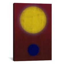 Modern Art Earth and Sun Graphic Art on Canvas