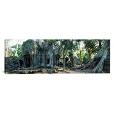 Panoramic Old Ruins of a Building, Angkor Wat, Cambodia Photographic Print on Canvas