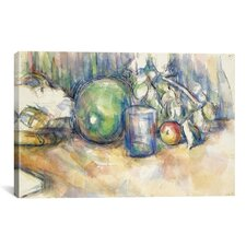 'Nature Morte Au Melon Vert 1902-1906' by Paul Cezanne Painting Print on Canvas