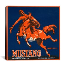 Mustang Brand Fruit Vintage Crate Label Canvas Wall Art