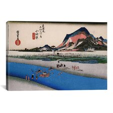 'Odawara (Takaido)' by Utagawa Hiroshige Painting Print on Canvas