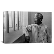 Political 'Nelson Mandela Portrait' Photographic Print on Canvas
