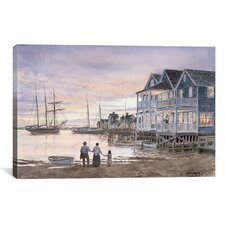 'Nantucket Sunset' by Stanton Manolakas Painting Print on Canvas