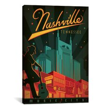 'Nashville, Tennessee' by Anderson Design Group Vintage Advertisement on Canvas