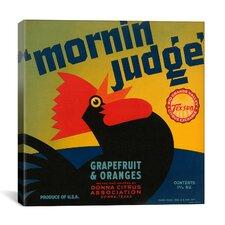 Mornin Judge Grapefruit and Oranges Vintage Crate Label Canvas Wall Art