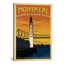 'Montreal, Canada' by Anderson Design Group Vintage Advertisement on Canvas