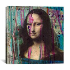 'Mona Lisa Dripping' by Luz Graphics Painting Print on Canvas