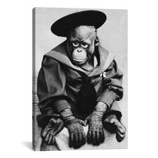 Photography 'Monkey in Graduation Outfit' Photographic Print on Canvas