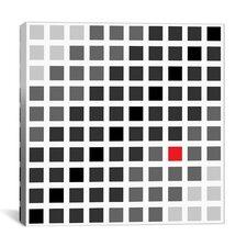 Modern Art Tile Cuadrados Opt en Gris Graphic Art on Canvas