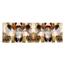 Canada Moose Skull 2 Panoramic Graphic Art on Canvas