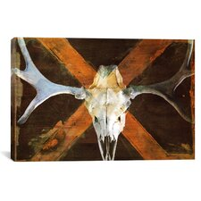 Canada Moose Skull Graphic Art on Canvas