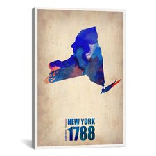 Naxart 'New York Watercolor Map' Graphic Art on Canvas