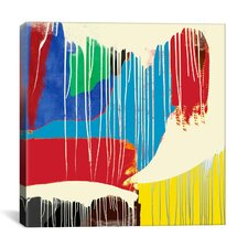 Modern Art Weeping Colors Graphic Art on Canvas