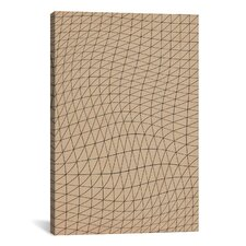 Modern Wavy Lines ll Graphic Art on Canvas