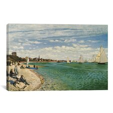 Regatta at Sainte-Adresse 1867 by Claude Monet Painting Print on Canvas