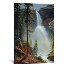 'Nevada Falls' by Albert Bierstadt Painting Print on Canvas
