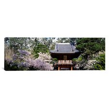 Panoramic Japanese Tea Garden, San Francisco, California Photographic Print on Canvas