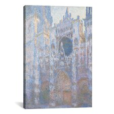'Rouen Cathedral II' by Claude Monet Painting Print on Canvas