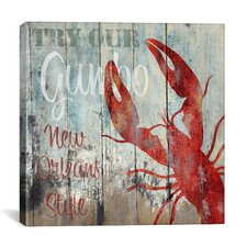 """New Orleans Seafood"" Canvas Wall Art by Color Bakery"