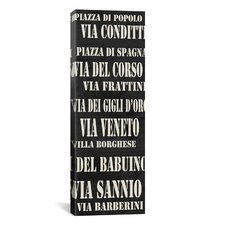 Typography 'Rome Streets From Willow Way Studios, Inc' Textual Art on Canvas
