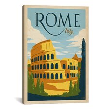 'Rome, Italy' by Anderson Design Group Vintage Advertisement on Canvas