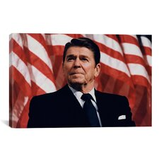 Political 'Ronald Reagan Portrait' Photographic Print on Canvas