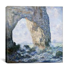 'Rock Arch West of Etretat (The Manneport)' by Claude Monet Painting Print on Canvas