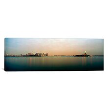 Panoramic New York Harbor, New York City Photographic Print on Canvas