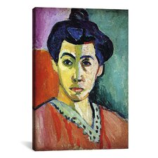 'Portrait of Madame Matisse (Green Stripe)' by Henri Matisse Painting Print on Canvas